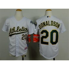 MLB Oakland Athletics 20 Josh Donaldson White Cool Base Baseball Youth Jersey