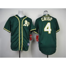 MLB Oakland Athletics 4 Coco Crisp 2014 Green Youth Jersey