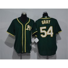 MLB Oakland Athletics 54 Sonny Gray 2014 Green Youth Jersey