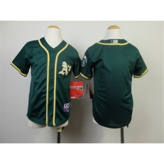 MLB Oakland Athletics Blank 2014 Green Youth Jersey