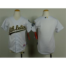 MLB Oakland Athletics Blank White Cool Base Baseball Youth Jersey