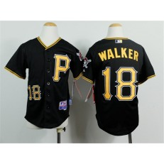 MLB Pittsburgh Pirates 18 Neil Walker Black Youth Jersey