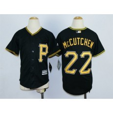 MLB Pittsburgh Pirates 22 Andrew McCutchen Alternate Black 2015 Cool Base Youth Jersey