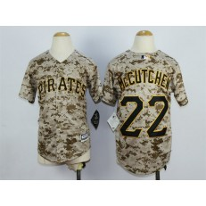 MLB Pittsburgh Pirates 22 Andrew McCutchen Alternate Camo 2015 Cool Base Youth Jersey
