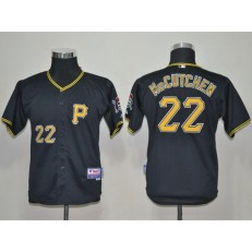 MLB Pittsburgh Pirates 22 Andrew McCutchen Black Youth Jersey