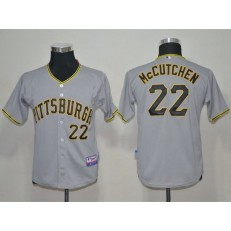 MLB Pittsburgh Pirates 22 Andrew McCutchen Gray Youth Jersey