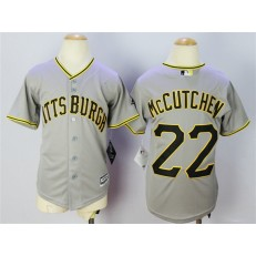 MLB Pittsburgh Pirates 22 Andrew McCutchen Grey 2015 Cool Base Youth Jersey