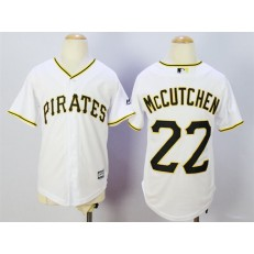 MLB Pittsburgh Pirates 22 Andrew McCutchen White 2015 Cool Base Youth Jersey