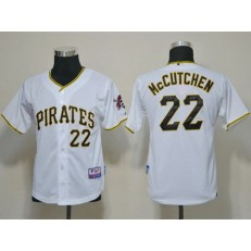 MLB Pittsburgh Pirates 22 Andrew McCutchen White Youth Jersey