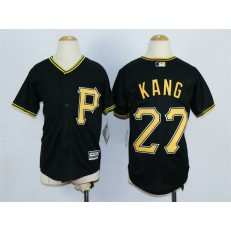MLB Pittsburgh Pirates 27 Jung-ho Kang Alternate Black 2015 Cool Base Youth Jersey