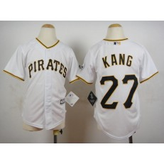 MLB Pittsburgh Pirates 27 Jung-ho Kang White 2015 Cool Base Youth Jersey