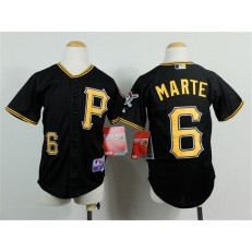 MLB Pittsburgh Pirates 6 Starling Marte Black Youth Jersey