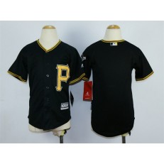 MLB Pittsburgh Pirates Blank Alternate Black 2015 Cool Base Youth Jersey