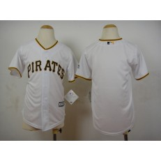 MLB Pittsburgh Pirates Blank White 2015 Cool Base Youth Jersey