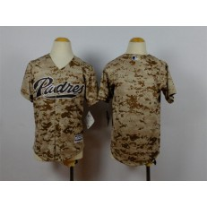 MLB San Diego Padres Blank Alternate Camo 2015 Cool Base Youth Jersey