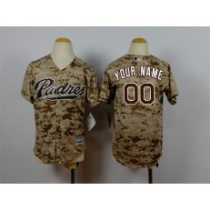 MLB San Diego Padres Customized Alternate Camo 2015 Cool Base Youth Jersey