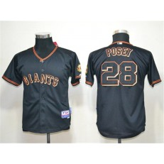 MLB San Francisco Giants 28 Buster Posey Black Youth Jersey