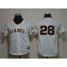 MLB San Francisco Giants 28 Buster Posey Cream Cool Base Youth Jersey