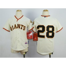 MLB San Francisco Giants 28 Buster Posey Cream Youth Jersey