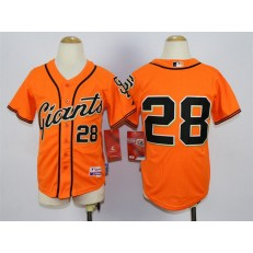 MLB San Francisco Giants 28 Buster Posey Orange Youth Jersey