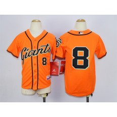 MLB San Francisco Giants 8 Hunter Pence Orange Youth Jersey