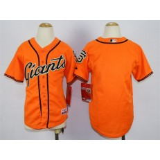 MLB San Francisco Giants Blank Orange Youth Jersey