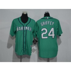 MLB Seattle Mariners 24 Ken Griffey Green Cool Base Stitched Youth Jersey