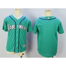 MLB Seattle Mariners Blank Green New Cool Base Youth Jersey