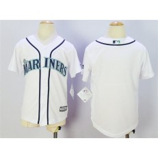 MLB Seattle Mariners Blank White New Cool Base Youth Jersey