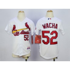 MLB St. Louis Cardinals 52 Michael Wacha White Youth Jersey