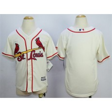 MLB St. Louis Cardinals Blank Alternate Cream 2015 Cool Base Youth Jersey