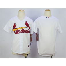 MLB St. Louis Cardinals Blank White Youth Jersey