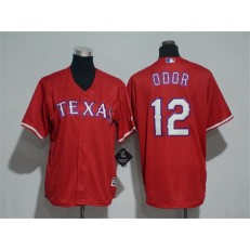 MLB Texas Rangers 12 Rougned Odor Red Cool Base Stitched Youth Jersey