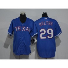 MLB Texas Rangers 29 Adrian Beltre Blue Cool Base Stitched Youth Jersey