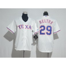 MLB Texas Rangers 29 Adrian Beltre White Cool Base Stitched Youth Jersey