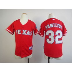 MLB Texas Rangers 32 Josh Hamilton Red Youth Jersey