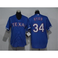 MLB Texas Rangers 34 Nolan Ryan Blue Cool Base Stitched Youth Jersey