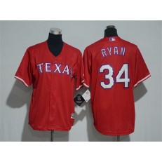 MLB Texas Rangers 34 Nolan Ryan Red Cool Base Stitched Youth Jersey