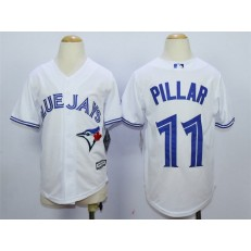 MLB Toronto Blue Jays 11 Kevin Pillar White Home Cool Base Baseball Youth Jersey