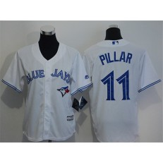 MLB Toronto Blue Jays 11 Kevin Pillar White Home Stitched Baseball Youth Jersey