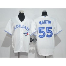 MLB Toronto Blue Jays 55 Russell Martin White Home Stitched Baseball Youth Jersey
