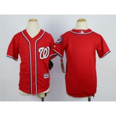 MLB Washington Nationals Blank Alternate Red 2015 Cool Base Youth Jersey