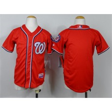 MLB Washington Nationals Blank Alternate Red Cool Base Youth Jersey