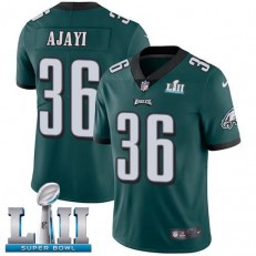 Youth Nike Philadelphia Eagels Super Bowl LII 36 Jay Ajayi Midnight Green Team Color NFL Jersey