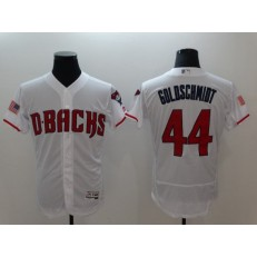 MLB Arizona Diamondbacks 44 Paul Goldschmidt White Flexbase Stitched Men Jersey