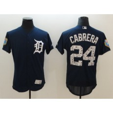 MLB Detroit Tigers 24 Miguel Cabrera Navy Blue 2018 Spring Training Authentic Flex Base Stitched Men Jersey