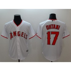 MLB Los Angeles Angels 17 Shohei Ohtani White Cool Base Stitched Men Jersey