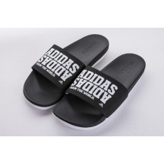 ADILETTE CF+ CAMPUS BLACK WHITE LETTERS BY2615