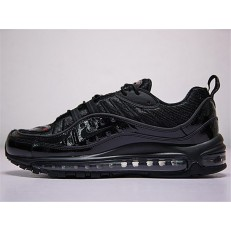NIKE AIR MAX 98 X SUPREME TRIPLE BLACK 844694-001