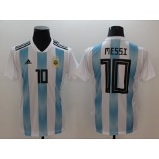Argentina 10 Messi Home 2018 FIFA World Cup Thailand Soccer Men Jersey